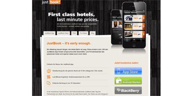 Justbook ist neben BookitNow eine weitere hervorragendeApp für Lastminute-Hotelbuchungen.