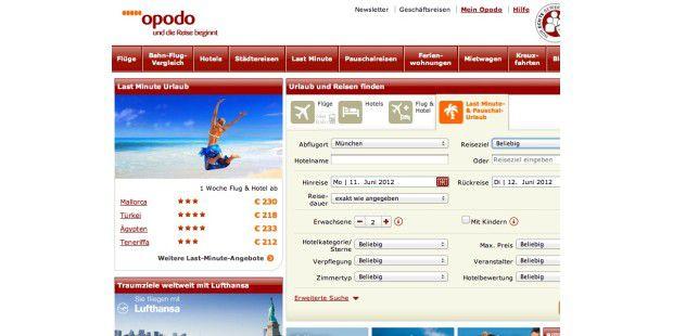 Große Reiseportale wie Opodo konkurrieren mit Spezialistenfür Hotelbuchungen und Lastminute-Experten.