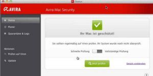 Virenscanner: Avira Free Mac Security