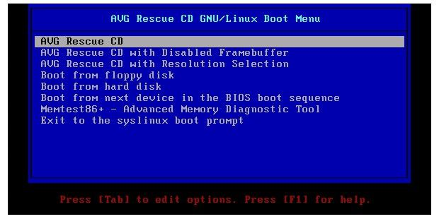 AVG Rescue CD - Download