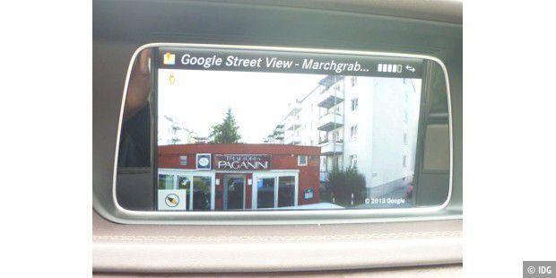 Google Street View einer Pizzeria in Comand Online