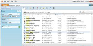 Desktop-Suche: Copernic Desktop Search lite