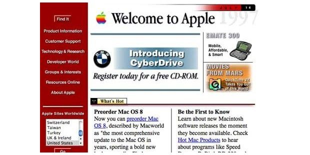 Apple (Domain 1987 / Site 1996) - apple.com