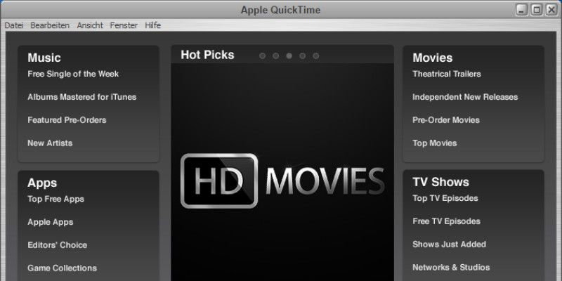 QuickTime Player 104 Download - Mac Informer