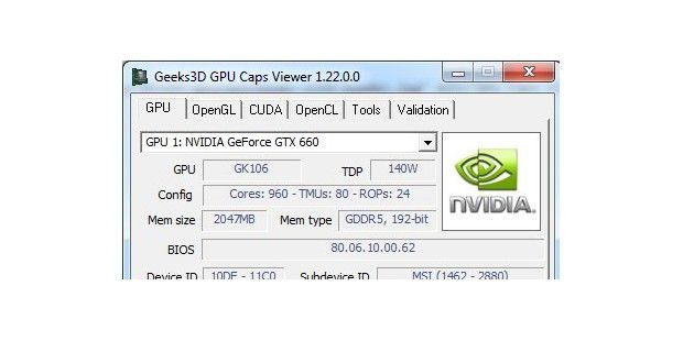 Gratis Tool: GPU Caps Viewer