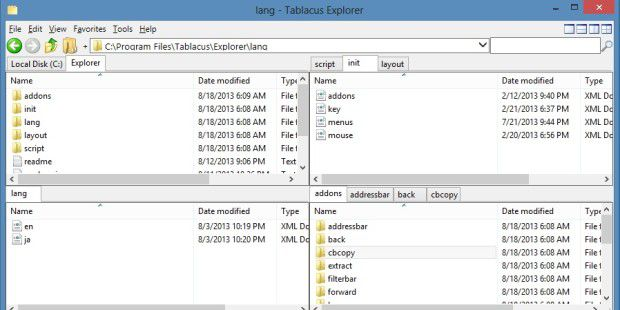 Dateiverwaltung: Tablacus Explorer