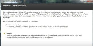 Gratis-Sicherheit: Windows Defender Offline