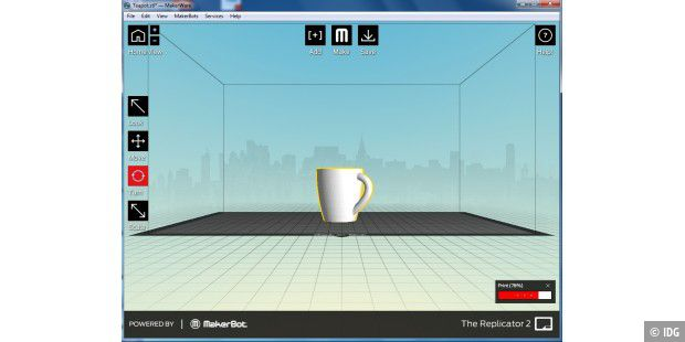 Makerware - die kostenlose Software zum Makerbot Replicator 2