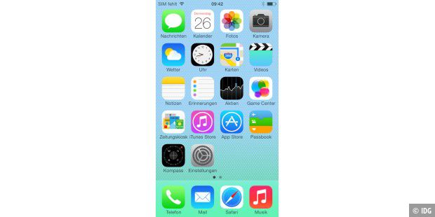 Apple iPhone 5c mit iOS 7