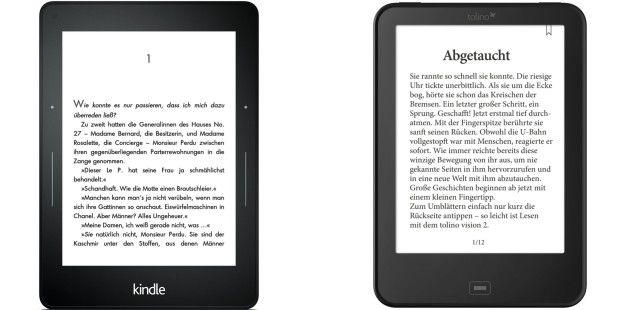 Duell: Amazon Kindle Voyage gegen Tolino Shine 2