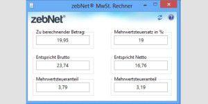 zebNet MwSt. Rechner