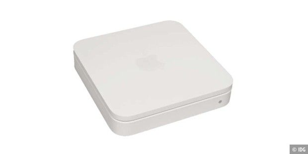 Weißer Router mit 450 MBit/s: Apple Airport Extreme
