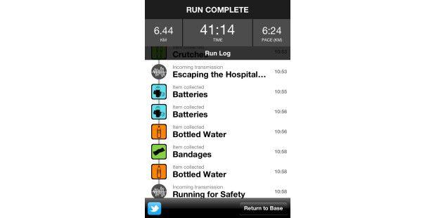 Die iPhone-App Zombies, Run! kommt mehr wie ein Hörspielrüber.