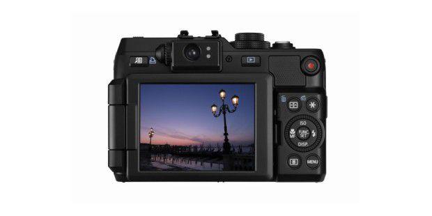 Der optische Sucher der Canon Powershot G1 X ist beiKompaktkameras mittlerweile eine Besonderheit.