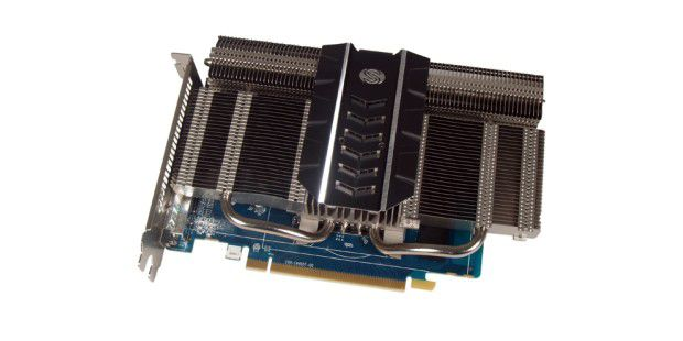 Komplett passive Kühlung der Sapphire HD 7750Ultimate.