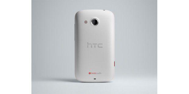 HTC Desire C - griffige Rückseite