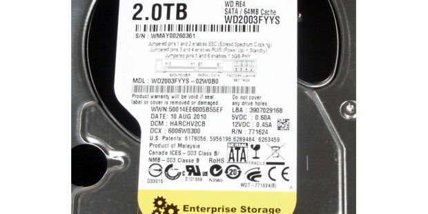 Label der Western Digital WD2003FYYS
