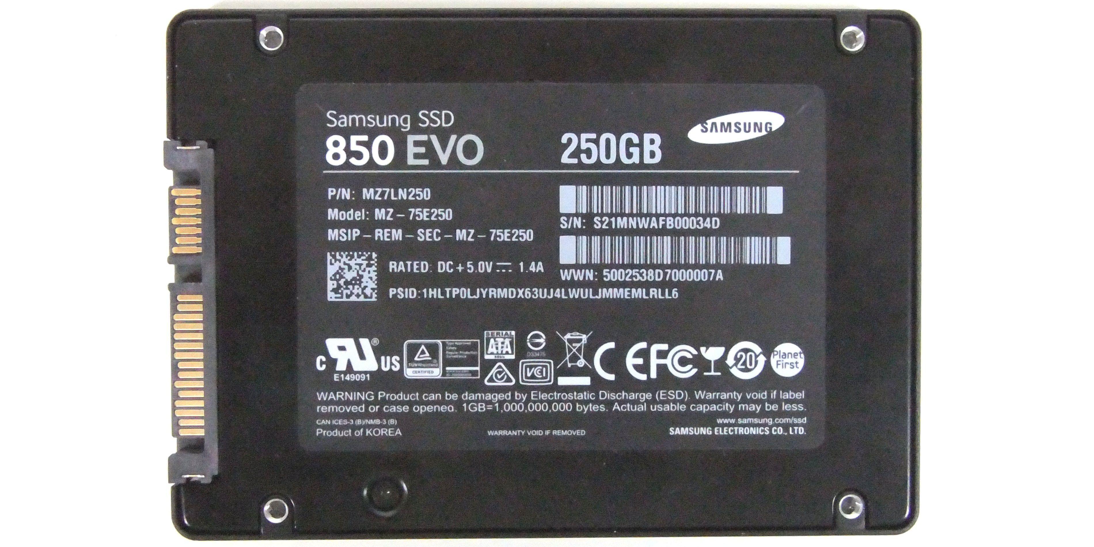 Samsung Ssd 850 Evo 250gb Im Test Pc Welt M2 Vergrern