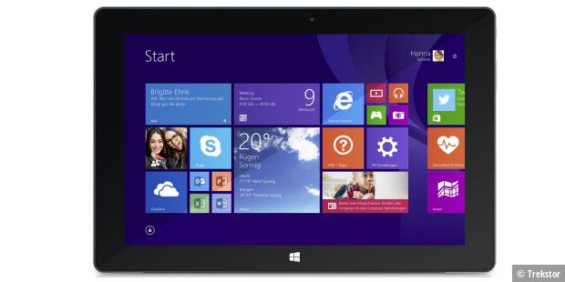 Windows-Tablet unter 200 Euro: Trekstor Surftab Wintron 10.1 für 199 Euro