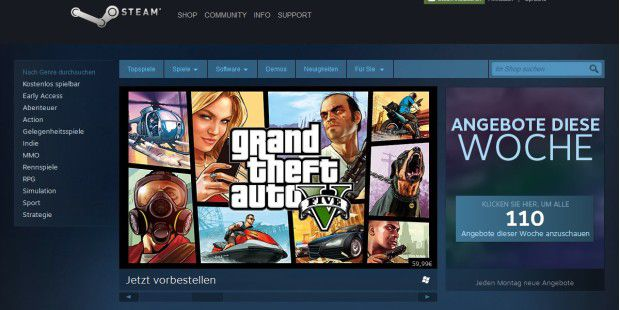 PC-Spiele-Plattform: Steam