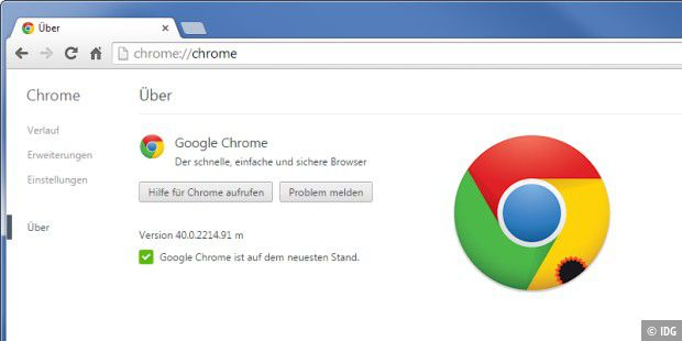 neue Browser-Version: Chrome 40