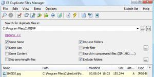 EF Duplicate Files Manager