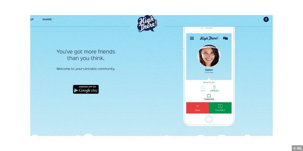 Erste Dating-App für Kiffer erschienen