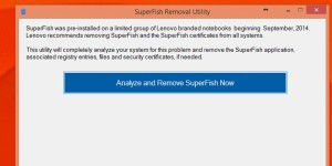 Lenovo SuperFish Removal Utility