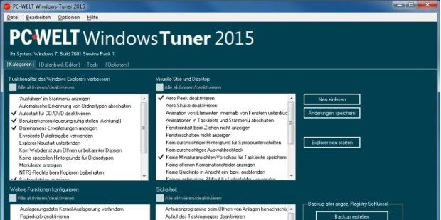 System-Tool: PC-WELT Windows-Tuner