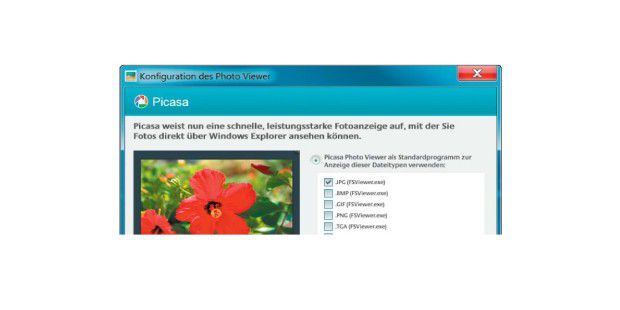 Picasa-Viewer konfigurieren