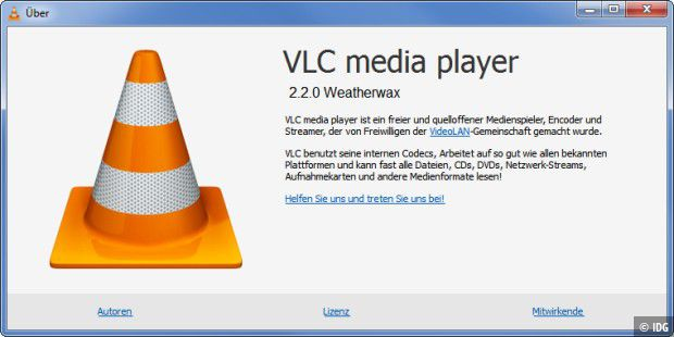 VLC Media Player 2.2.0 (WeatherWax)