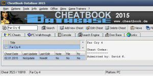 Gaming: CheatBook DataBase 2015