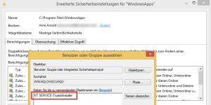 Zugriffsrechte in Windows 8 wieder ans System geben