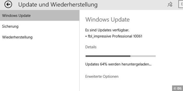 Windows 10 TP Build 10061 geht über Fast Ring an die Tester