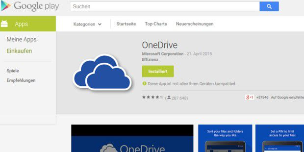 OneDrive für Android in neuer Version