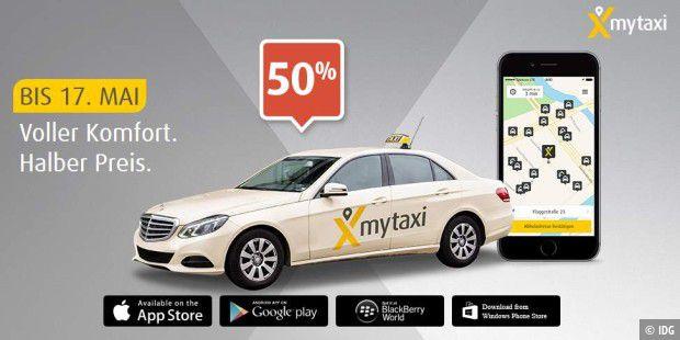 mytaxi bezahlt halben fahrpreis bei taxi fahrten pc welt. Black Bedroom Furniture Sets. Home Design Ideas