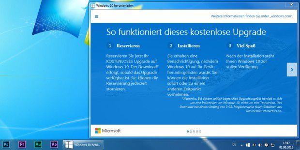 Das Gratis-Upgrade auf Windows 10 kann vorab reserviert werden