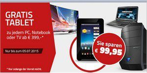 Gratis Tablet zu PC, TV, Notebook