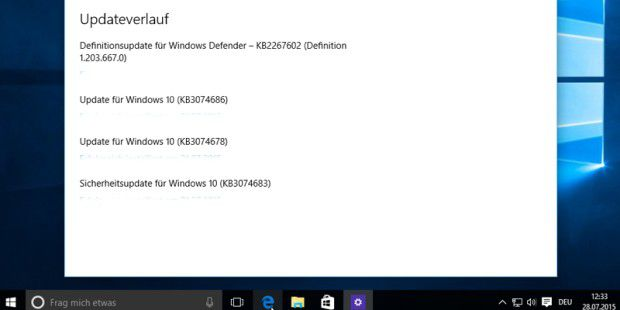 Windows 10: 1-GB-Update zum Start des neuen Windows