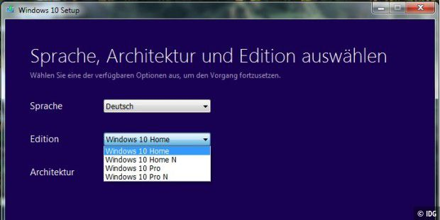 Installationsmedium erstellen mit dem Media Creation Tool für Windows 10.