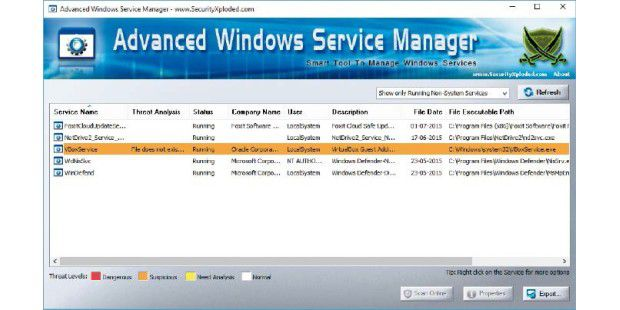 Advanced Windows Service Manager