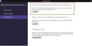 Windows 8 ohne Datenverlust zurücksetzen - so geht's