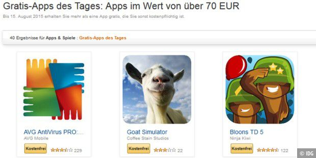 Amazon verschenkt 40 Android-Apps