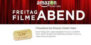 Amazon Instant Video: 10 Filme für je 1 Euro ausleihbar