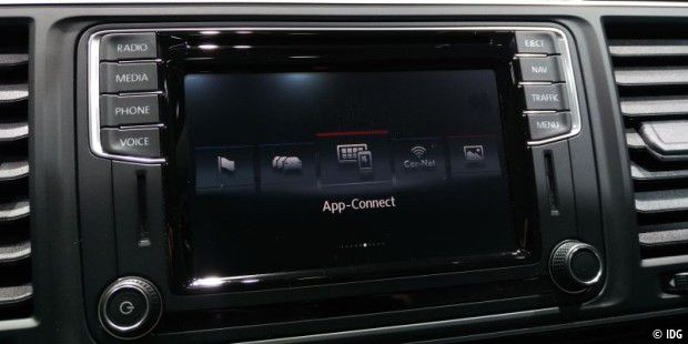App-Connect für Apple Carplay, Mirrorlink und Android Auto.