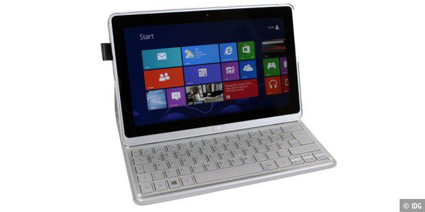 Acer Aspire P3: Windows-Tablet mit Bluetooth-Tastatur im Test