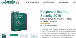 20% günstiger: Kaspersky Internet Security 2016