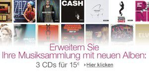 Musik: Kaufen Sie jetzt 3 CDs für 15 Euro