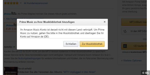 amazon prime music erste probleme beim zugriff l sen pc welt. Black Bedroom Furniture Sets. Home Design Ideas
