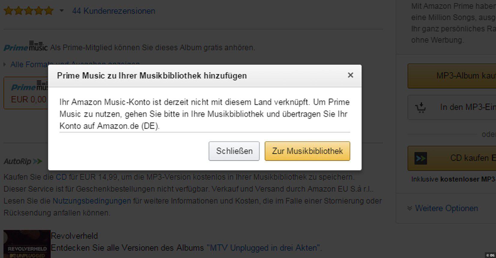 Amazon Music Probleme